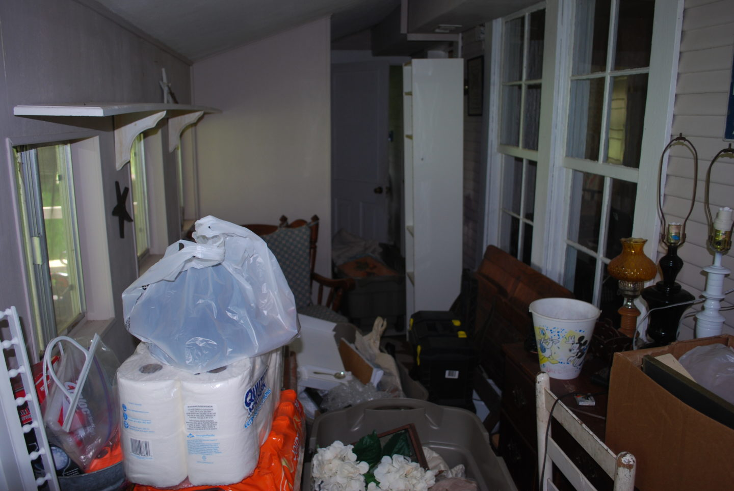 Mudroom before cleanout