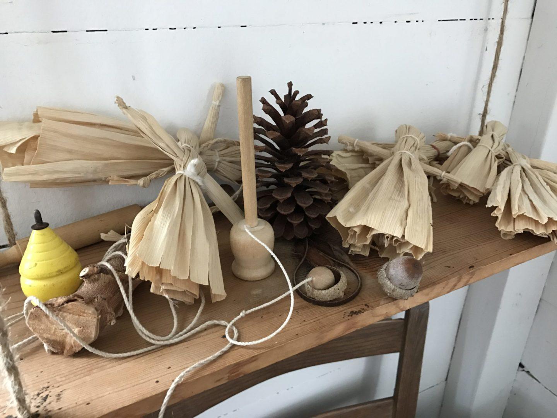 Handmade cornhusk dolls and toys Barrington Farm