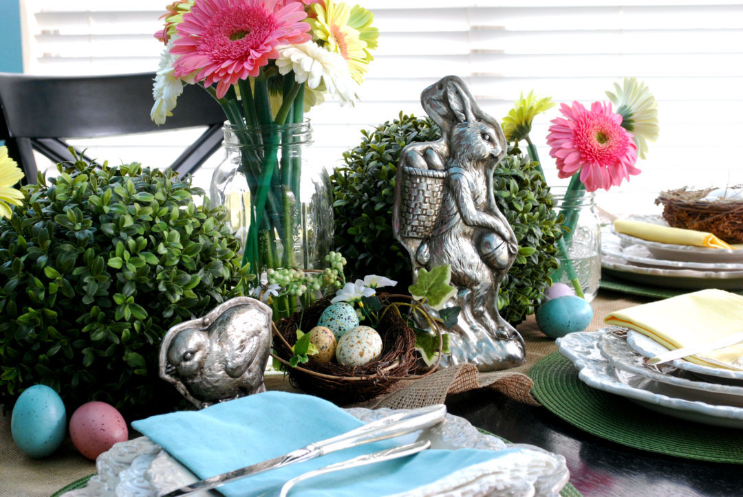 Easy Step by Step Process on Styling an Easter Table