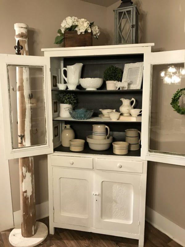 Vintage Pie Cabinet After