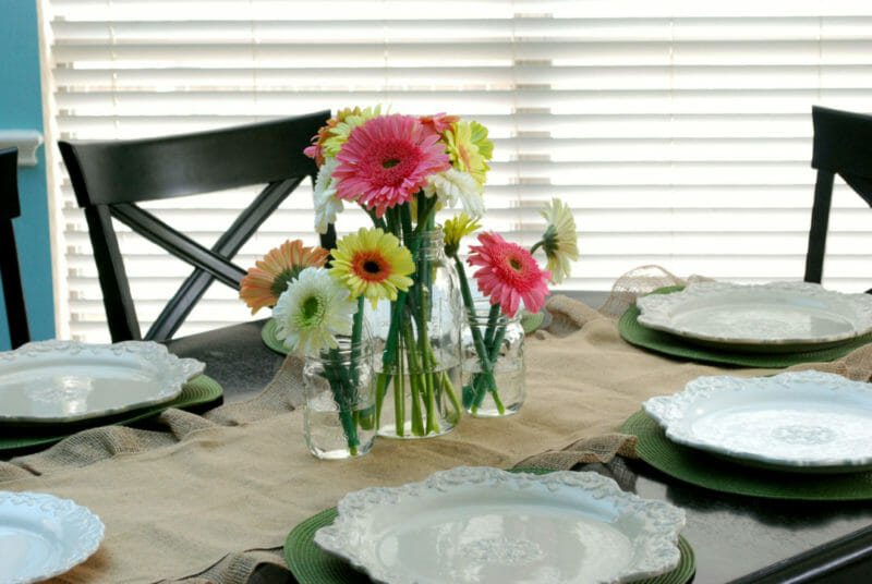 Step by step process on how to style an Easter Table