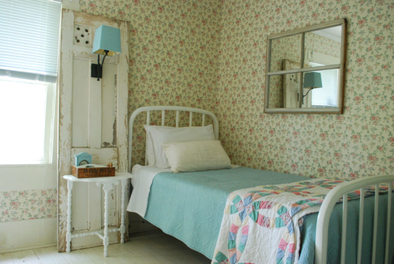 Navasota guest bedroom screams farmhouse charm