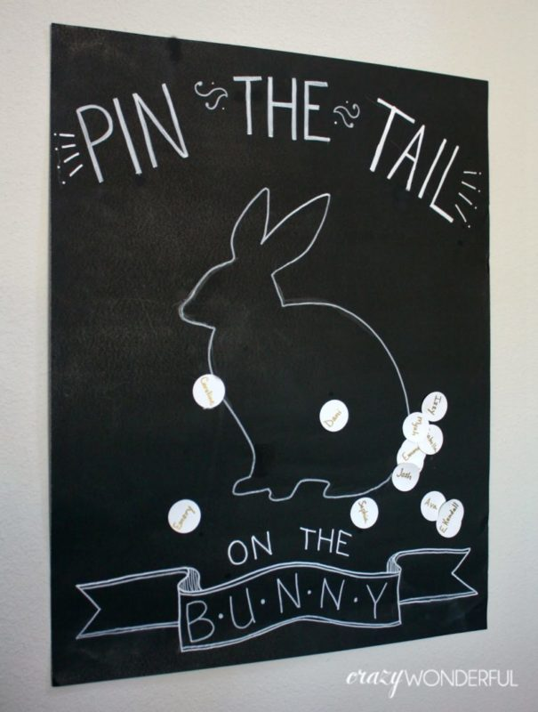 Easter Party Games Pin the Tail on the Bunny
