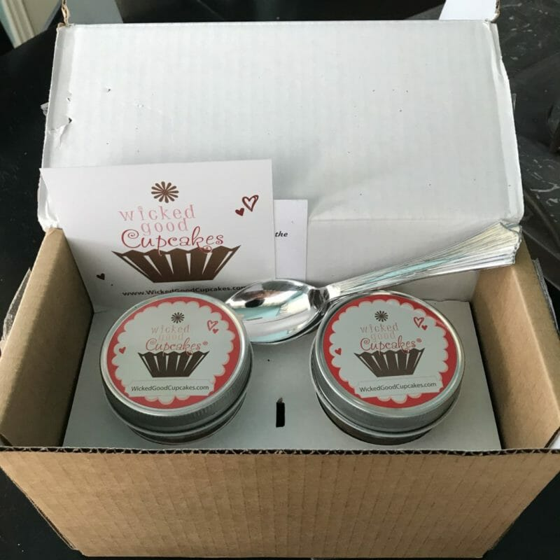 Wicked Good Cupcakes in delivery box