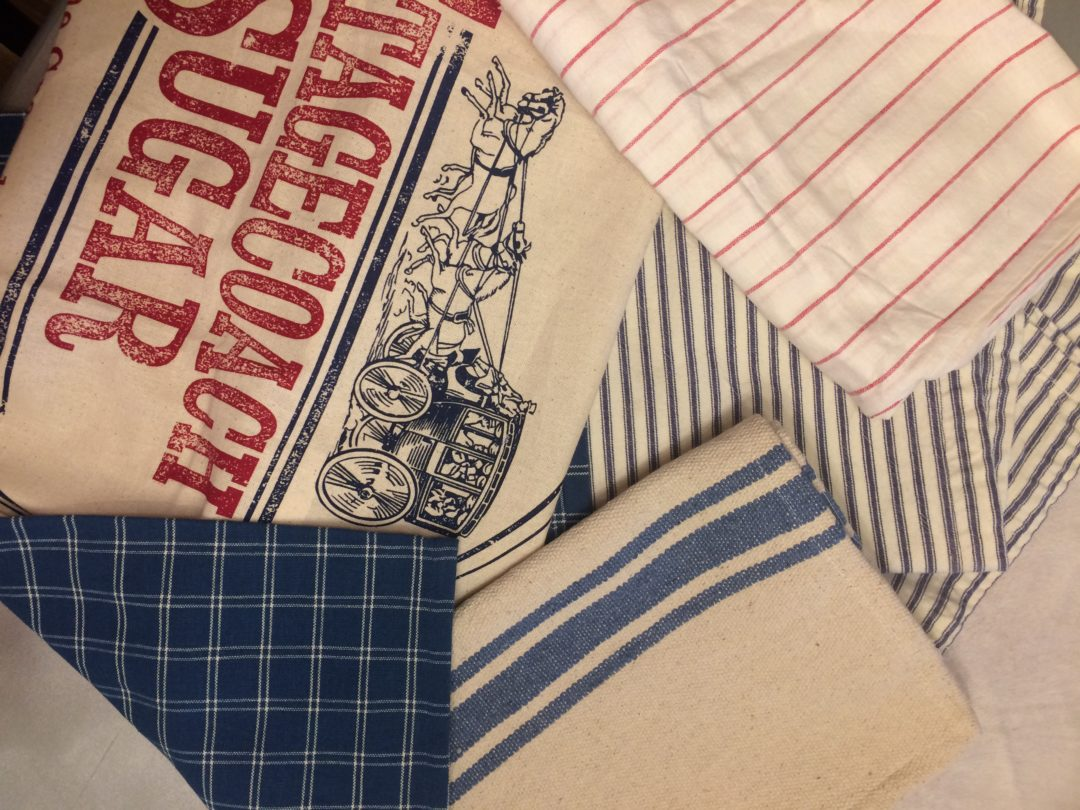 Vintage fabric swatches for different July 4th decor inspiration