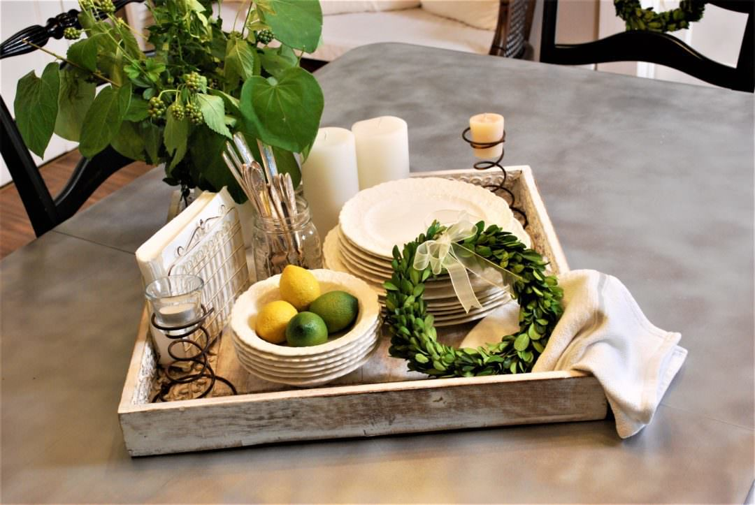 Tips for an al fresco ready tray or centerpiece!