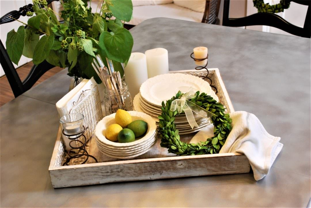 Lemon lime tray ready for alresco dining or a great table centerpiece
