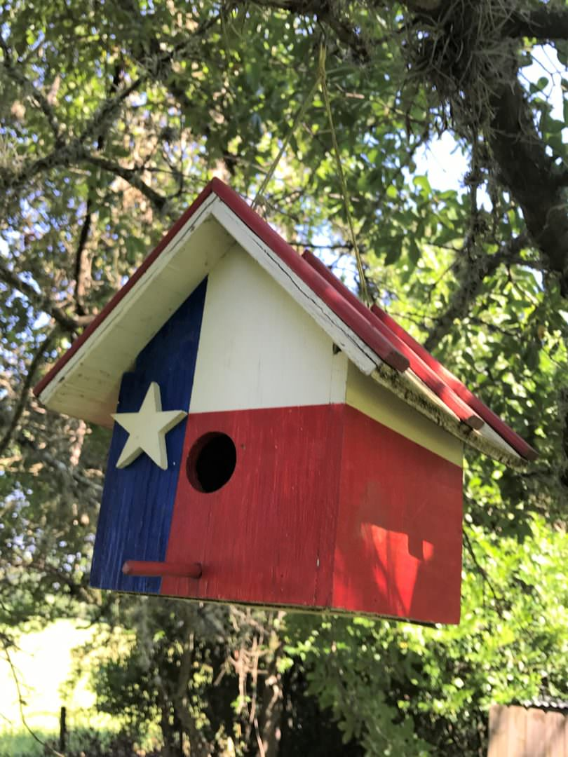 Painted Texas Flag birdhouse
