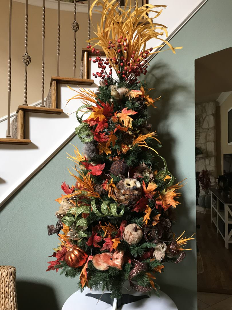 Wonderful Woodland Creature Autumn Tree by Countyroad407.com