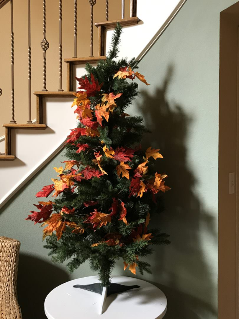 Step 2 for decorating an Autumn Tree