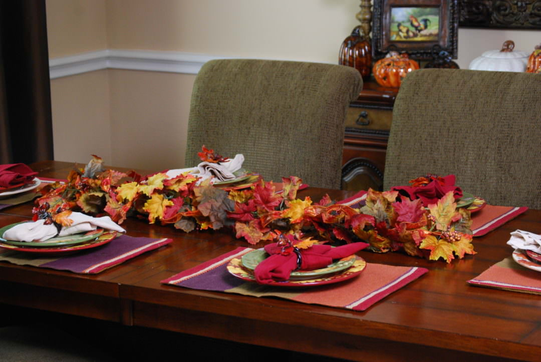 3 different looks for a fall centerpiece idea using only 1 strand of garland