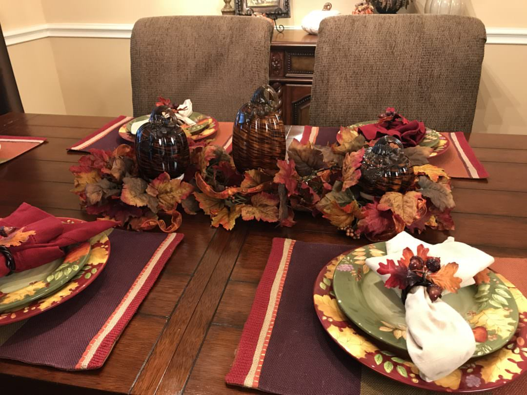 Fall Garland used with 3 different centerpiece looks by County Road 407