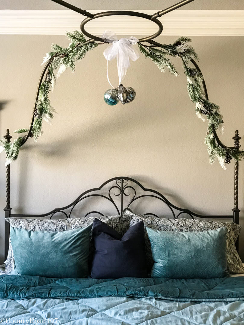 Add garland and ornaments for a festive look. County Road 407