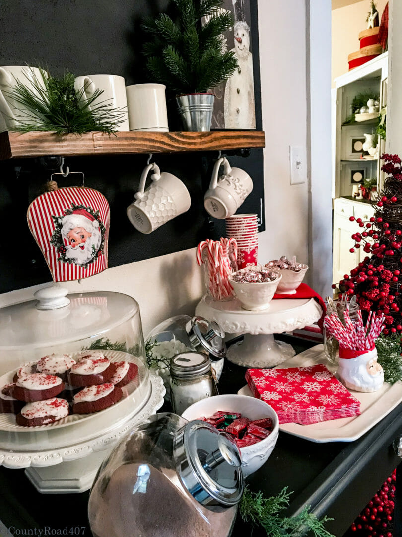 Christmas Cocoa Bar ideas from CountyRoad407.com