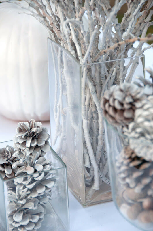 branches in vase for winter decor by Aesthetic Nest