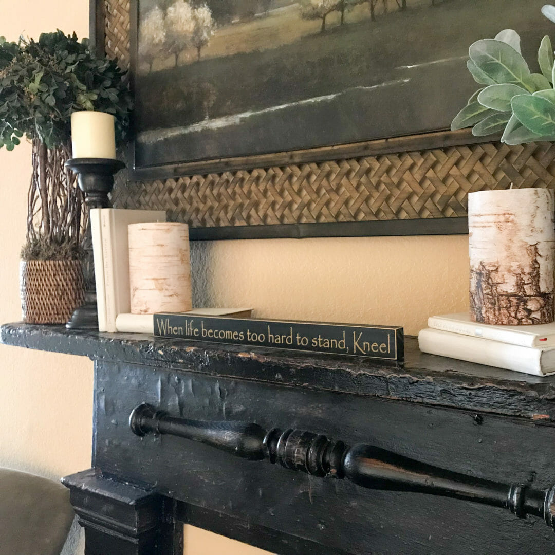 Easy Steps to decorating a mantel by CountyRoad407.com