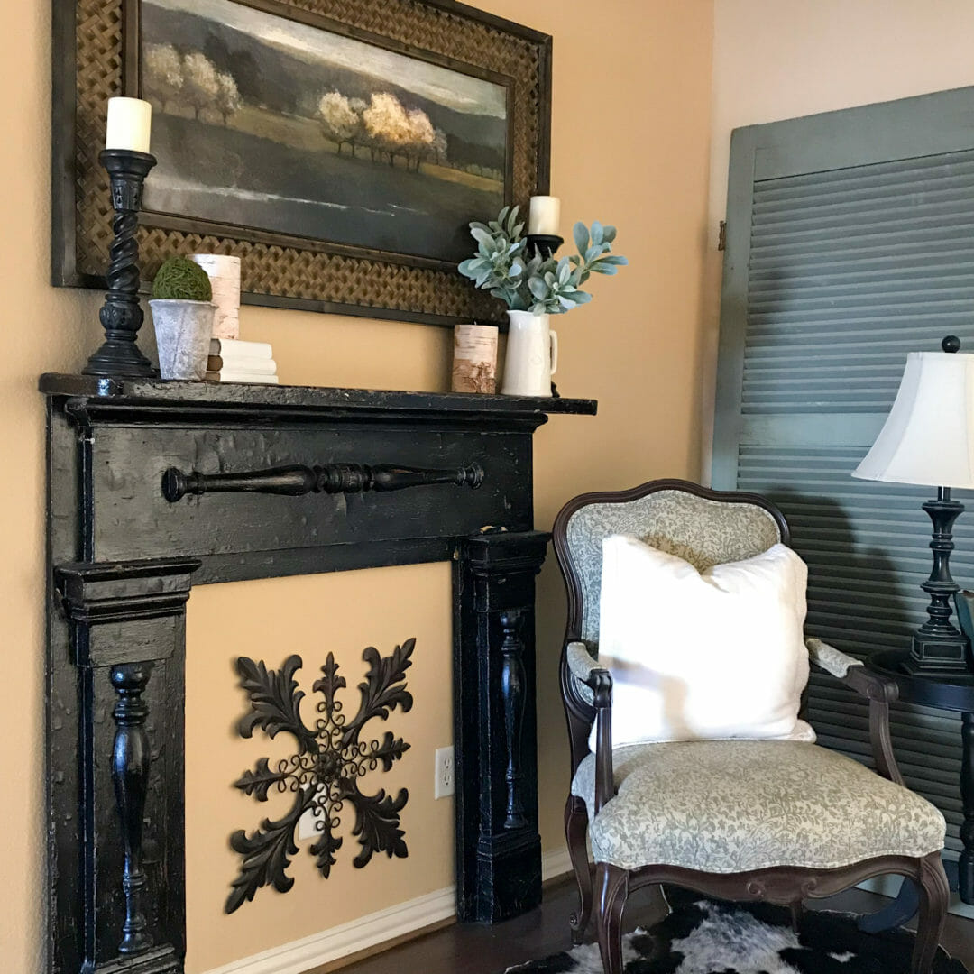 4 easy steps to decorating a mantel by CountyRoad407.com