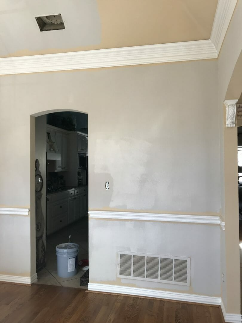 During the paint process for Accessible Beige by Sherwin Williams - Countyroad407.com