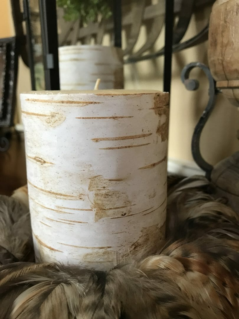 Birch Bark Candle DIY from CountyRoad407.com