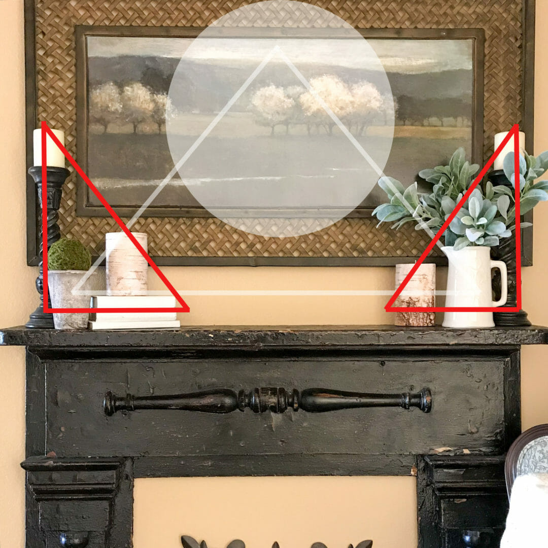 How to decorate a mantel in 4 easy steps! By Countyroad407.com