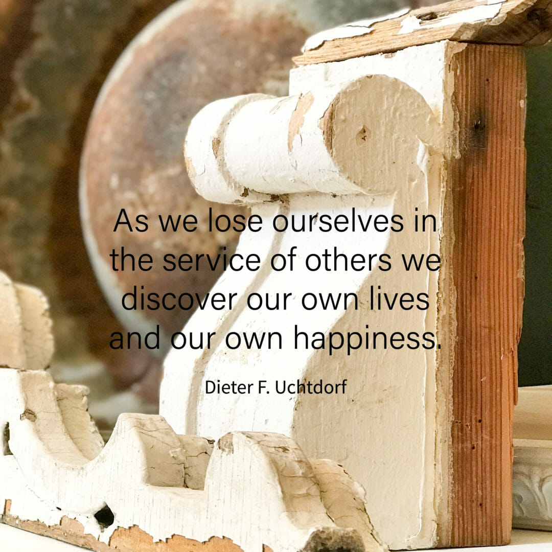 Quote for Serving others. Found in the CountryRoad407.com blog