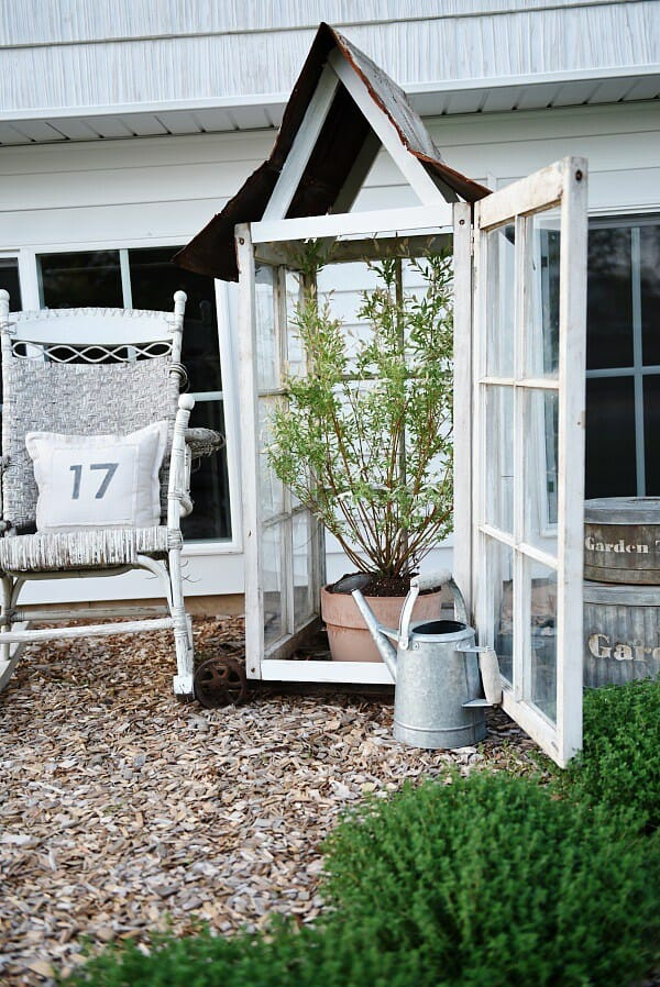 a Greenhouse is a perfect way to repurpose old windows. Like this one found on Craftsmandrive.com - CountyRoad407.com