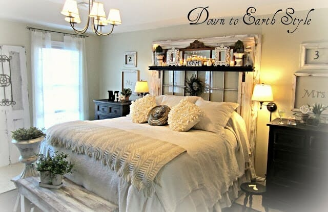 One of my favorite ideas for repurposing old windows is by DowntoEarthstyle.blogspot