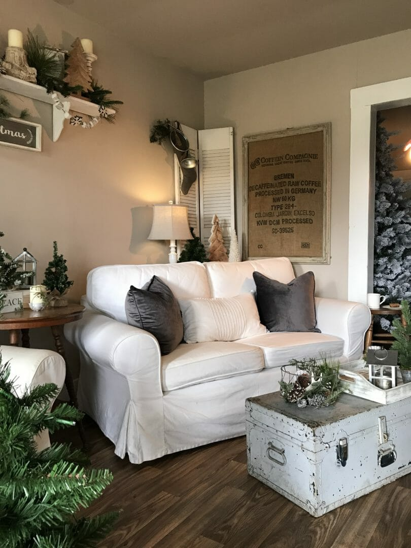 Our Neutral Farmhouse Christmas Living Room County Road 407