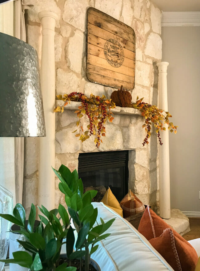 Creating A Simple And Festive Fall Mantel County Road 407